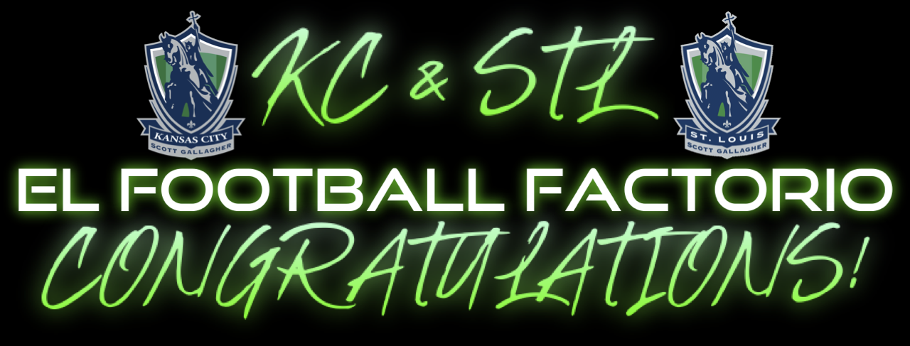 El Football Factorio Congrats